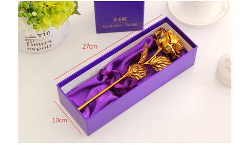 Best Gift For Wife/Girlfriend - Golden Rose Flower with Box - Ezy Buy Outlet