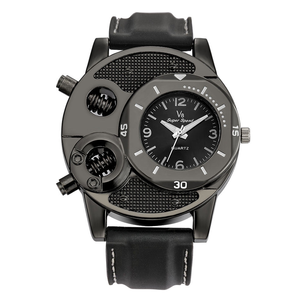 Fashion Men's Thin Silica Gel Quartz Watch - Ezy Buy Outlet