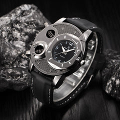 Fashion Men's Thin Silica Gel Quartz Watch