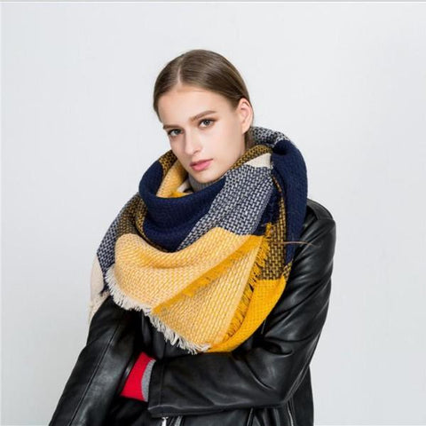Winter Luxury Brand Scarf For Women - thick Cashmere Shawl - Ezy Buy Outlet