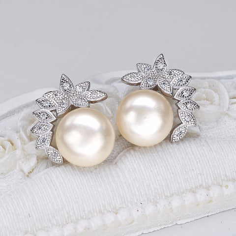 Silver Cubic Zircon Bridal Earrings - Ezy Buy Outlet