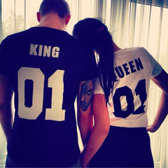 Matching T-shirts for Couple with words