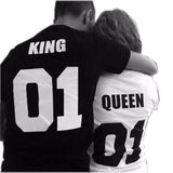 "Matching T-shirts for Couple with words ""King"",  ""Queen"" - Ezy Buy Outlet"