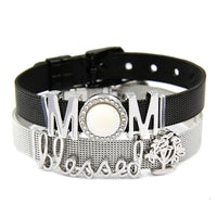 Black Stainless Steel Mesh Warp Bracelets - Ezy Buy Outlet