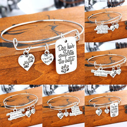 SPECIAL WORDS Pendant Bracelet - SPECIAL WORDS Pendant Bracelet -Family-Daughter-Sisters-Dad-Dog & Cat Paws