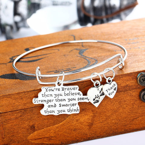 SPECIAL WORDS Pendant Bracelet -Family-Daughter-Sisters-Dad-Dog & Cat Paws - Ezy Buy Outlet