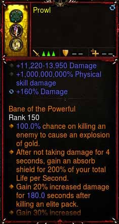 [Primal Ancient] 1-70 1000000000% Modded Ring 11k-13k Damage + 96% to Bleed Damage x2 Prowl