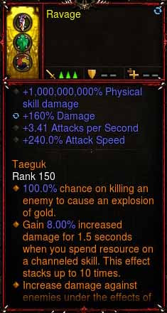 [Primal Ancient] 1-70 1000000000% Modded Ring +3.41 APS, 240% Attack Speed, 160% Damage Ravage