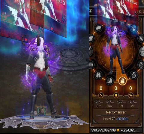 14x EXTREME Stat Modded + Necromancer Characters w/ Visual Effects-Diablo 3 Mods - Playstation 4, Xbox One, Nintendo Switch