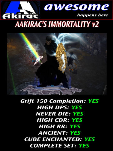 Immortality v2 Ulania Monk Modded Set for Rift 150 Myth-Diablo 3 Mods - Playstation 4, Xbox One, Nintendo Switch