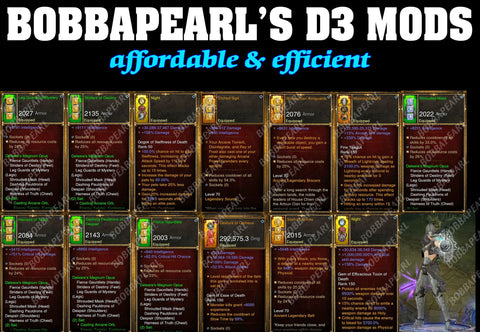 BobbaPearl's Delsere Magnum Opus Wizard Set for GRIFT 150 #B5-Diablo 3 Mods - Playstation 4, Xbox One, Nintendo Switch