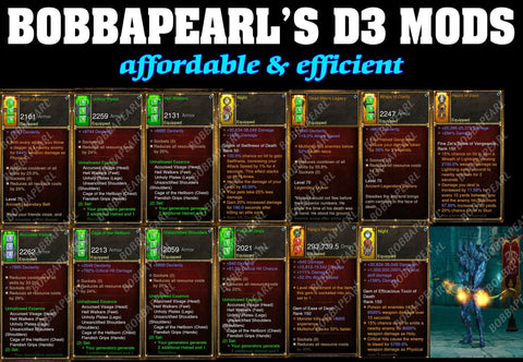 Bobbapearl's Unhallow Demon Hunter Set for GRIFT 150 #B9-Diablo 3 Mods - Playstation 4, Xbox One, Nintendo Switch