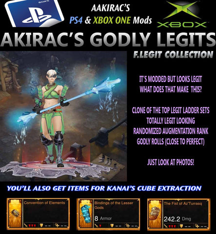 F.Legit Collection - Inna's Monk (See Photo's)-Diablo 3 Mods - Playstation 4, Xbox One, Nintendo Switch
