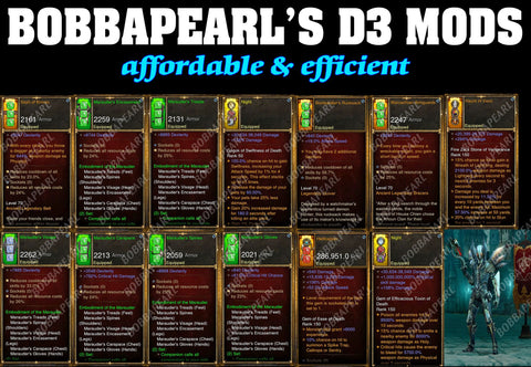 BobbaPearl's Marauder Demon Hunter Set for GRIFT 150 #B6-Diablo 3 Mods - Playstation 4, Xbox One, Nintendo Switch