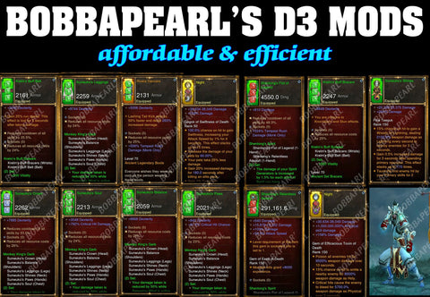 BobbaPearl's Sunwoko Monk Set for GRIFT 150 #B3-Diablo 3 Mods - Playstation 4, Xbox One, Nintendo Switch