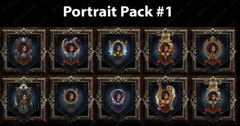 Cosmetic Frame Portrait Bundle #1-Diablo 3 Mods - Playstation 4, Xbox One, Nintendo Switch