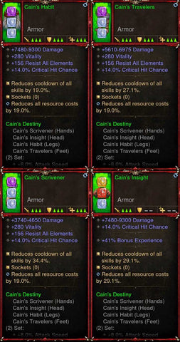 [Primal Ancient] [QUAD DPS] 2.6.7 Cain's Multi Class Set