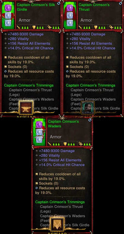 [Primal Ancient] [QUAD DPS] 2.6.7 Captain Crimson's Multi Class Set