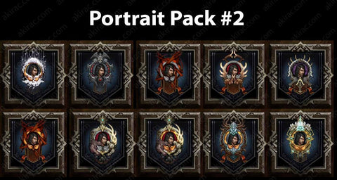 Cosmetic Frame Portrait Bundle #2-Diablo 3 Mods - Playstation 4, Xbox One, Nintendo Switch