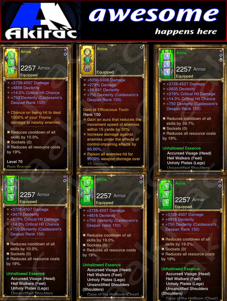 Immortality v1 Unhallow Demon Hunter Modded Set for Rift 150 Arrow-Diablo 3 Mods - Playstation 4, Xbox One, Nintendo Switch