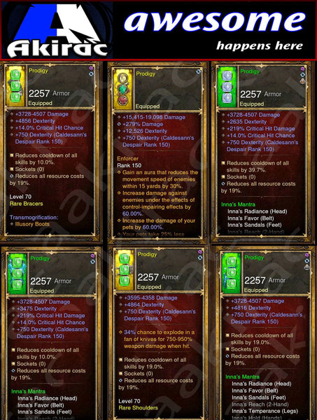 Immortality v1 Inna's Monk Modded Set for Rift 150 Prodigy-Diablo 3 Mods - Playstation 4, Xbox One, Nintendo Switch