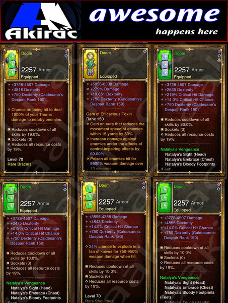Immortality v1 Nats Demon Hunter Modded Set for Rift 150 Doom-Diablo 3 Mods - Playstation 4, Xbox One, Nintendo Switch