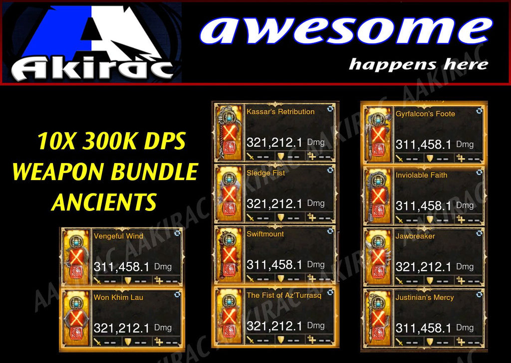 10x 300k+ Legendary Modded Weapon Bundle #2-Diablo 3 Mods - Playstation 4, Xbox One, Nintendo Switch