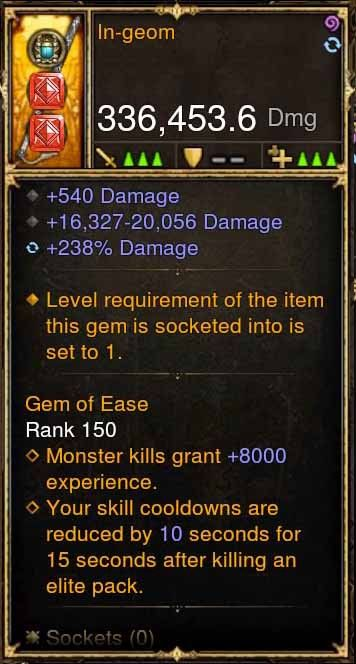 In-Geom 336k Actual DPS Modded Weapon-Diablo 3 Mods - Playstation 4, Xbox One, Nintendo Switch