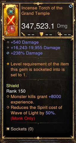 Incense Torch of the Grand Temple 347k Actual DPS Daibo-Diablo 3 Mods - Playstation 4, Xbox One, Nintendo Switch