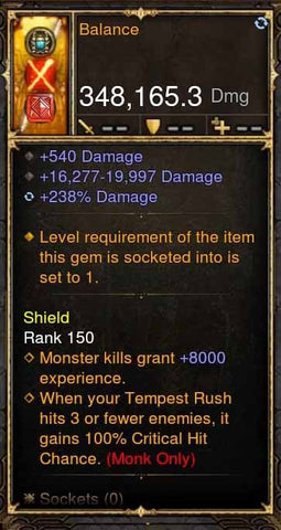 Balance 348k Actual DPS Daibo-Diablo 3 Mods - Playstation 4, Xbox One, Nintendo Switch