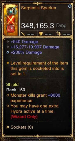 Serpents Sparker 348k Actual DPS Wand-Diablo 3 Mods - Playstation 4, Xbox One, Nintendo Switch
