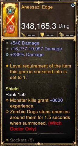 Anessazi Edge 348k Actual DPS Modded Weapon-Diablo 3 Mods - Playstation 4, Xbox One, Nintendo Switch