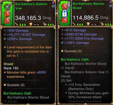 BulKathos 348k / 114k Actual DPS Combo Mighty Swords (w/ King Maker XMOG)-Diablo 3 Mods - Playstation 4, Xbox One, Nintendo Switch