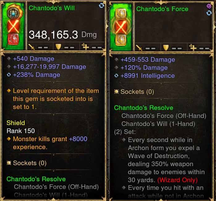 Chantodo's Will 348k Actual DPS Combo-Diablo 3 Mods - Playstation 4, Xbox One, Nintendo Switch