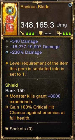 Envious Blade 348k Actual DPS Modded Weapon-Diablo 3 Mods - Playstation 4, Xbox One, Nintendo Switch