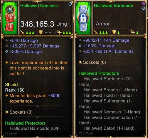 Hallowed Protectors 348k Actual DPS Combo-Diablo 3 Mods - Playstation 4, Xbox One, Nintendo Switch