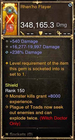 Rhen'ho Flayer 348k Actual DPS Modded Weapon-Diablo 3 Mods - Playstation 4, Xbox One, Nintendo Switch
