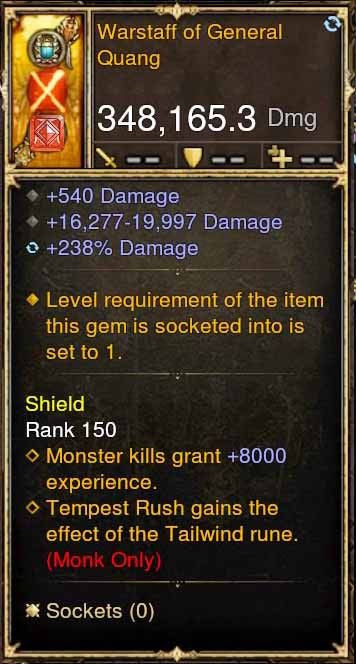 Warstaff of Quang 348k Actual DPS Modded Weapon-Diablo 3 Mods - Playstation 4, Xbox One, Nintendo Switch