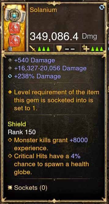 Solanium 349k Actual DPS Modded Weapon-Diablo 3 Mods - Playstation 4, Xbox One, Nintendo Switch