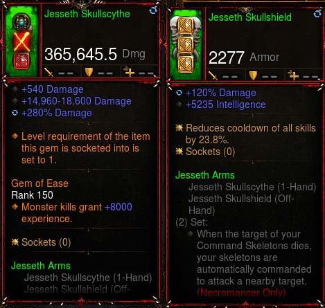 [Primal Ancient] 365k Actual DPS Jesseth Skullscythe + Skull Shield Combo