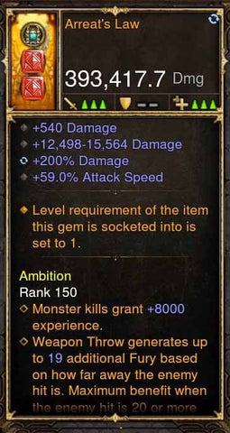 Arreats Law 393k Modded Weapon-Diablo 3 Mods - Playstation 4, Xbox One, Nintendo Switch
