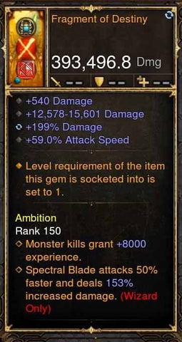 Fragment of Destiny 393k Modded Weapon-Diablo 3 Mods - Playstation 4, Xbox One, Nintendo Switch