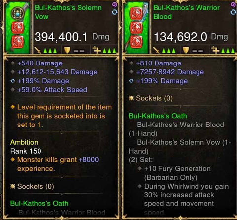 Bulkatos Combo 394k Modded Weapons (w/ King Maker XMOG)-Diablo 3 Mods - Playstation 4, Xbox One, Nintendo Switch
