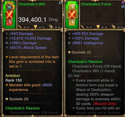 Chantodos Combo 394k Modded Weapons + Source-Diablo 3 Mods - Playstation 4, Xbox One, Nintendo Switch