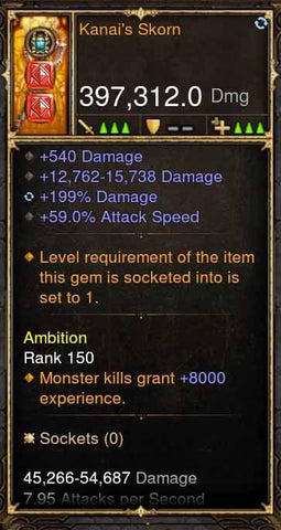 Kanai's Scorn 397k Modded Weapon-Diablo 3 Mods - Playstation 4, Xbox One, Nintendo Switch