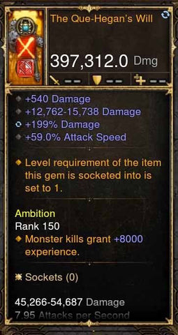 The Que-Hegans Will 397k Modded Weapon-Diablo 3 Mods - Playstation 4, Xbox One, Nintendo Switch