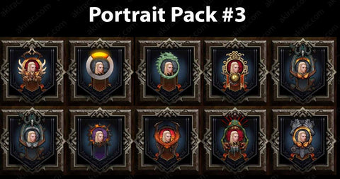 Cosmetic Frame Portrait Bundle #3-Diablo 3 Mods - Playstation 4, Xbox One, Nintendo Switch