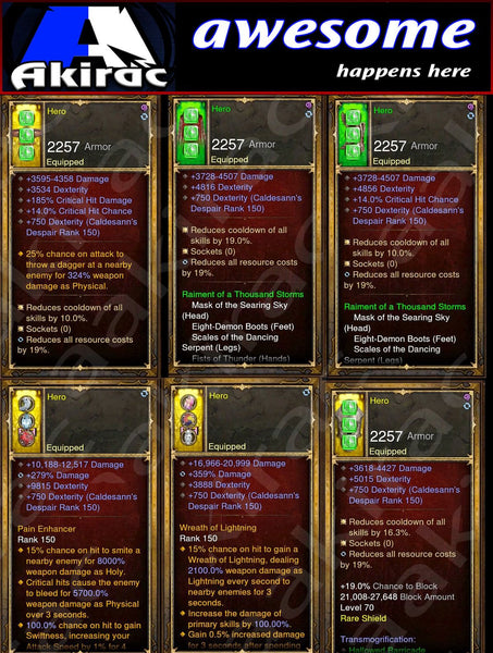Immortality v1 Thousand Storms Monk Modded Set for Rift 150 Hero-Diablo 3 Mods - Playstation 4, Xbox One, Nintendo Switch