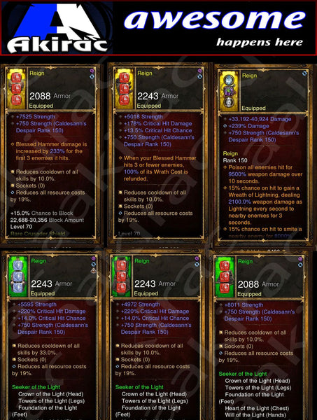 Immortality v2 Light Crusader Modded Set for Rift 150 Reign-Diablo 3 Mods - Playstation 4, Xbox One, Nintendo Switch