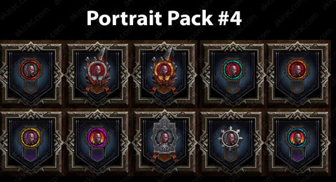 Cosmetic Frame Portrait Bundle #4-Diablo 3 Mods - Playstation 4, Xbox One, Nintendo Switch